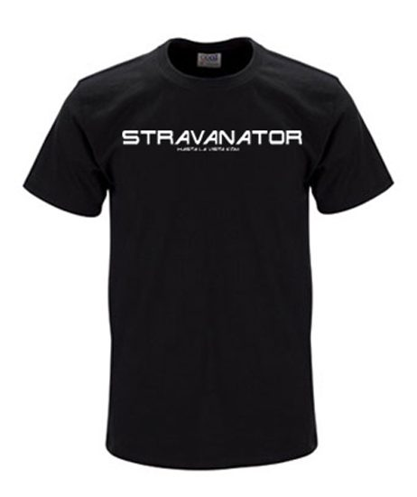 Stravanator mens black t-shirt