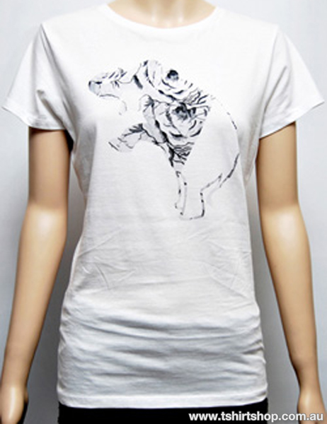 Women 39 s wildlife charity t shirt the t shirt shop for Charity printed t shirt