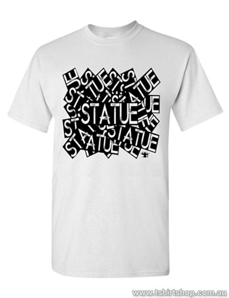 Mens Sticker T-Shirt by Statue