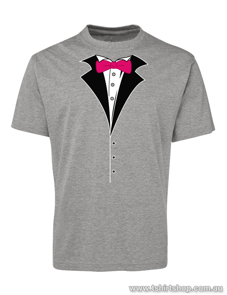 2f1caeff9 Red Bow-Tied Tuxedo Mens T-Shirt - The T-Shirt Shop