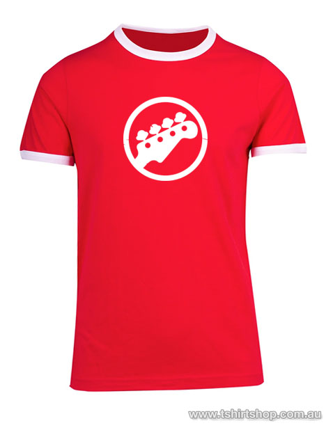 Red bass ringer tee