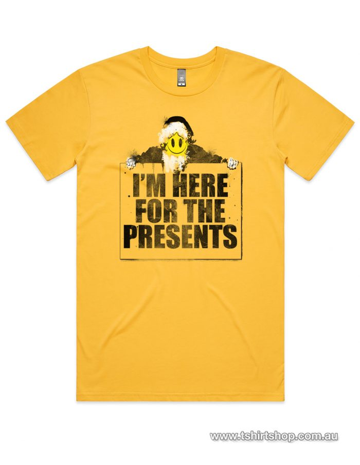 Here for the presents yellow