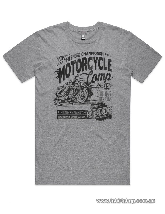 Grey marle Motorbike comp t-shirt