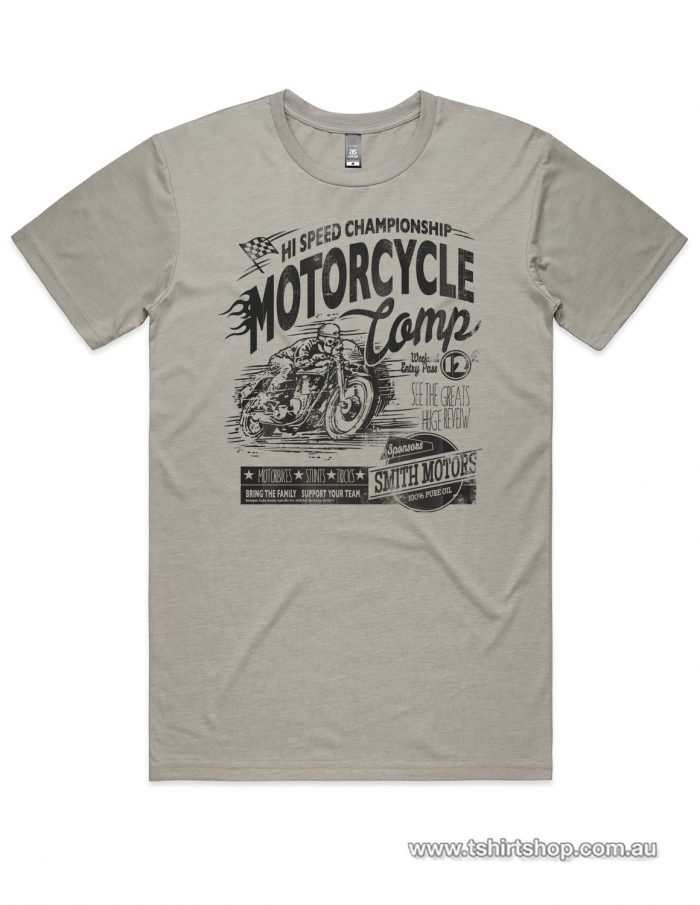 motorcyce comp shirt light grey colour