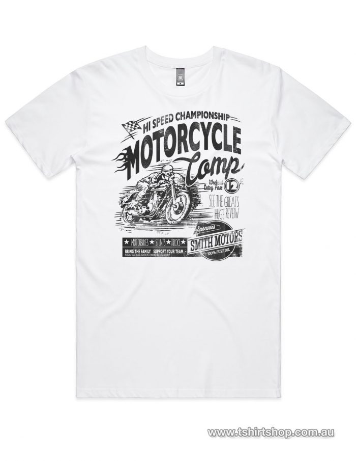 bike comp t-shirt in white