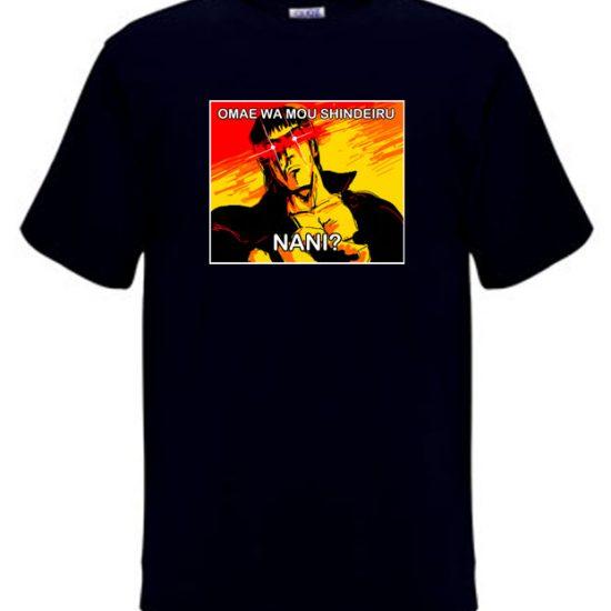 Omae Wa Mou Shindeiru Black Meme T-shirt