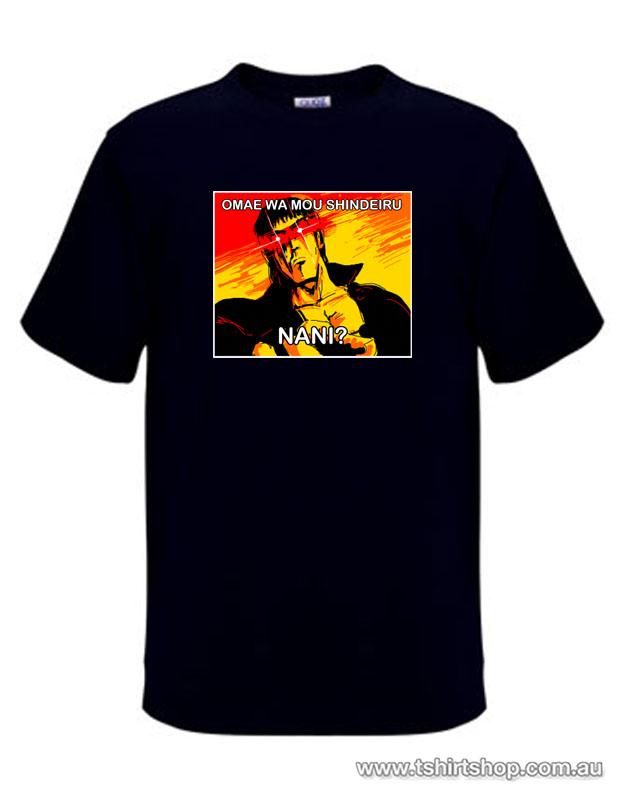 Omae Wa Mou Shindeiru - Nani? - Meme T-Shirt | The T-Shirt ...
