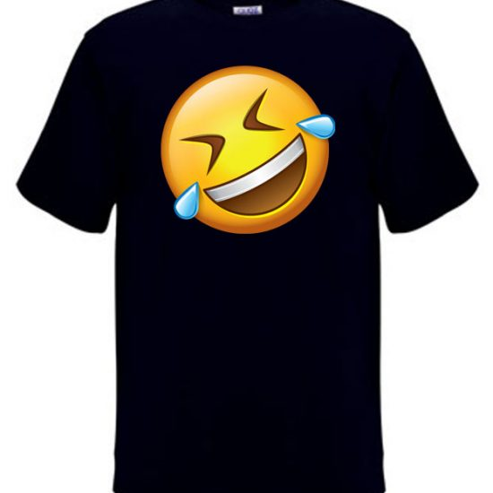 The rolling on the floor emoji face tshirt