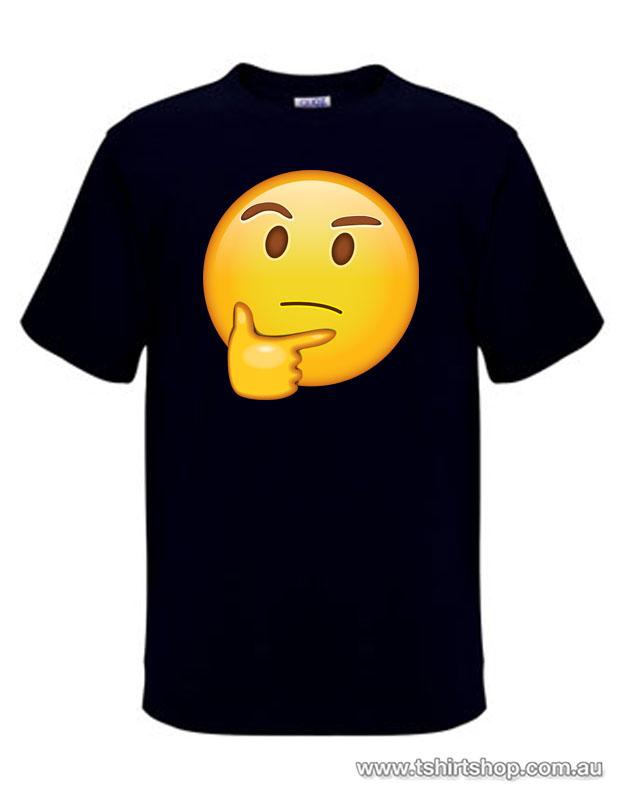 The thinking emoji face tshirt